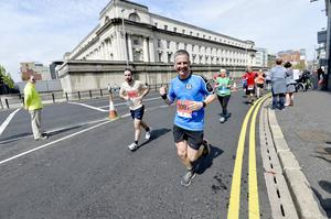 7th May 2018 37th Deep RiverRock Belfast City Marathon  BBC Mark Simpson  pictured at the marathon  Mandatory Credit ©Presseye/Stephen Hamilton