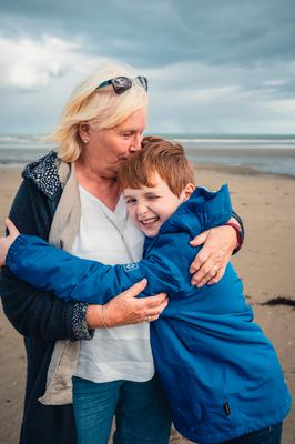 Cormac Thompson with his grandmother Colleen Morrison