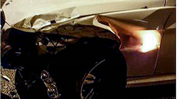 Damage caused to the driver's car.