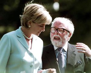 File photo dated 27/05/97 of Richard Attenborough with the Princess of Wales as Lord Attenborough has died aged 90, the BBC reported tonight. PRESS ASSOCIATION Photo. Issue date: Sunday August 24, 2014. See PA story DEATH Attenborough. Photo credit should read: Rui Vieira/PA Wire