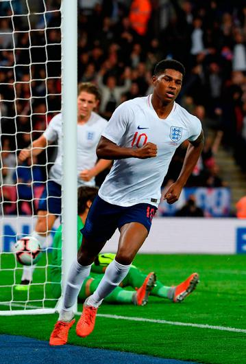 Goal ace: Marcus Rashford after scoring England's winner
