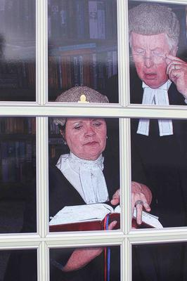 Barristers at work in Bushmills.PICTURE MARK JAMIESON.