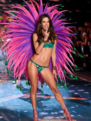 Model Alessandra Ambrosio walks the runway during the 2015 Victoria's Secret Fashion Show at the Lexington Armory on Tuesday, Nov. 10, 2015, in New York. The Victorias Secret Fashion Show will air on CBS on Tuesday, December 8th at 10pm EST. (Photo by Evan Agostini/Invision/AP)