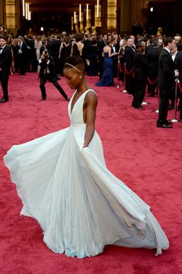 HOLLYWOOD, CA - MARCH 02:  Actress Lupita Nyong'o attends the Oscars held at Hollywood & Highland Center on March 2, 2014 in Hollywood, California.  (Photo by Kevork Djansezian/Getty Images)