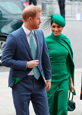 The Duke and Duchess of Sussex arrive at the Commonwealth Service at Westminster Abbey, London. Yui Mok/PA Wire