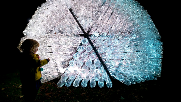 The Beacon? Installation by Bruce Munro at Waddesdon Manor, on November 10, 2014 in Aylesbury, England.  (Photo by Ben A. Pruchnie/Getty Images for Waddesdon Manor)