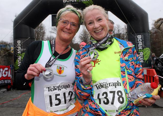 Mandatory Credit - Picture by Freddie Parkinson/Press Eye © Saturday 3rd December 2016 Belfast Telegraph Run Forest Run Loughgall. Loughgall Country Park, 11-14 Main Street, Loughgall, Armagh.  MARION MORROW and   Kim Gleave