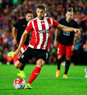Jay Rodriguez scores from the spot to equalise for Southampton against Midtjylland