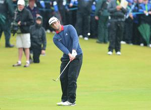 Press Eye - Belfast - Northern Ireland - 9th July 2017   Day four of the Dubai Duty Free Irish Open Hosted by the Rory Foundation at Portstewart Golf Club, Co.Derry / Co. Londonderry, Northern Ireland.  Tournament winner Jon Rahm with an overall card of 24 under celebrates on the 18th green  Picture by Matt Mackey / presseye.com