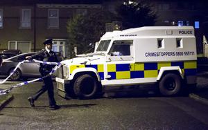 Police at the scene of a shooting in the Ardmonagh Parade area of Belfast on 6th January 2017 ( Photo by Kevin Scott / Belfast Telegraph )