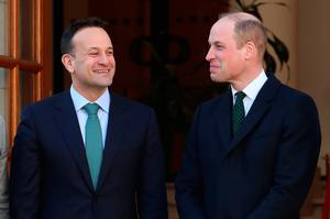 The Duke of Cambridge meets with Leo Varadkar, Taoiseach of Ireland, at the Government Buildings, Dublin, during his three day visit to the Republic of Ireland. PA Photo. Picture date: Tuesday March 3, 2020. See PA story ROYAL Cambridge. Photo credit should read: Liam McBurney/PA Wire