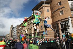 Press Eye - St Patricks Day Parade - Belfast City Centre - 17th March 2019 Photograph by Declan Roughan