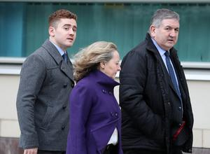 Paddy Jackson arrives at Belfast Crown Court.