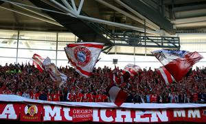 LONDON, ENGLAND - MAY 25:  FC Bayern Muenchen fans ahead of the UEFA Champions League final match between Borussia Dortmund and FC Bayern Muenchen at Wembley Stadium on May 25, 2013 in London, United Kingdom.  (Photo by Alex Livesey/Getty Images)