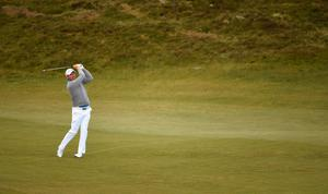 NEWCASTLE, NORTHERN IRELAND - MAY 29:  Padraig Harrington of Ireland hits an approach during the Second Round of the Dubai Duty Free Irish Open Hosted by the Rory Foundation at Royal County Down Golf Club on May 29, 2015 in Newcastle, Northern Ireland.  (Photo by Ross Kinnaird/Getty Images)