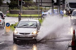 Flooding beginning on the Blacks Road in Belfast as storm Francis takes hold in Belfast on August 25rd 2020 (Photo by Kevin Scott for Belfast Telegraph)