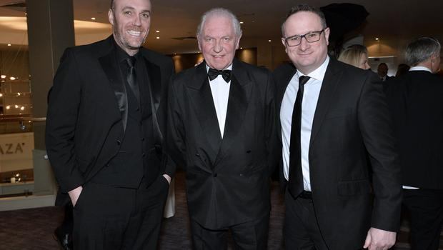 Press Eye - Belfast - Northern Ireland - 20th January  2020  Michael Boyd,Jim Shaw and Neill Brittan pictured at the 2019 Belfast Telegraph Sport Awards at the Crowne Plaza Hotel in Belfast. Photo by Stephen Hamilton / Press Eye.