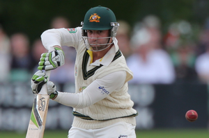 Australia batsman Phil Hughes is in intensive care and on life support in an induced coma after being struck on the head by a bouncer in a Sheffield Shield match.