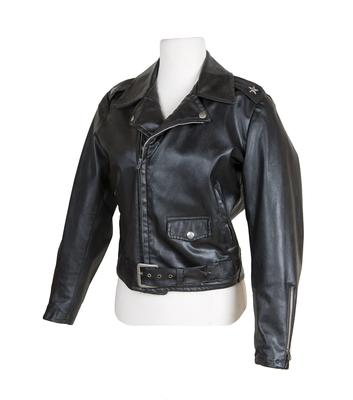 The jacket worn by Olivia Newton-John in the film Grease (Julien's Auctions/PA)