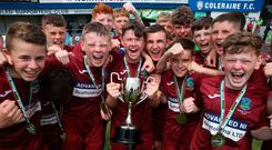 A first: Greenisland celebrate victory in Minor final at Coleraine Showgrounds
