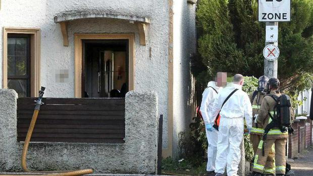 The scene of the explosion at a house on Bloomfield Road on May 15