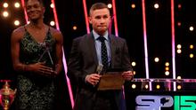Dina Asher-Smith and Carl Frampton during Sports Personality of the Year 2015