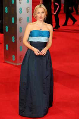 LONDON, ENGLAND - FEBRUARY 16: Actress Gillian Anderson attends the EE British Academy Film Awards 2014 at The Royal Opera House on February 16, 2014 in London, England.  (Photo by Chris Jackson/Getty Images)