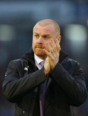 Burnley manager Sean Dyche during the Barclays Premier League match at Turf Moor, Burnley. Dave Thompson/PA Wire.