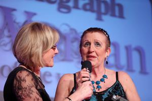 Belfast Telegraph Woman of the Year Awards in Association with The OUTLET, Banbridge at the Ramada Hotel in Belfast. Winner Ð Una Crudden