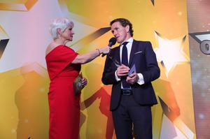 Press Eye - Belfast - Northern Ireland - 5th June 2019 -   AP McCoy pictured at The Sunday Life Spirit of Northern Ireland Awards with Specsavers in Titanic Belfast.   Photo by Kelvin Boyes / Press Eye.