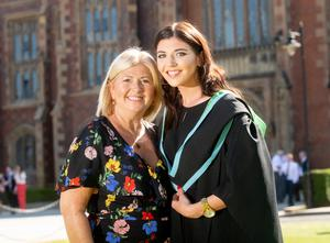 Rachel Innes has graduated from Queen's University with a BSc in Food Quality Safety and Nutrition. She is pictured with her mum Dawn Mellon who has also completed a Postgraduate qualification in non-medical prescribing from the School of Nursing at Queen's.