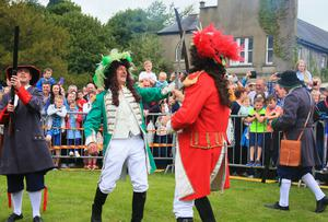 The annual sham fight between King William and James takes place in Scarva on July 13th 2017 (Photo by Kevin Scott / Belfast Telegraph)