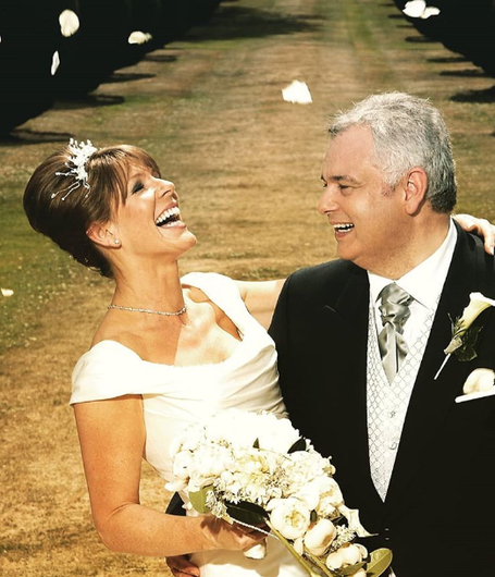 A photo of Ruth and Eamonn on their wedding day in 2010, which was posted on Instagram on their anniversary yesterday