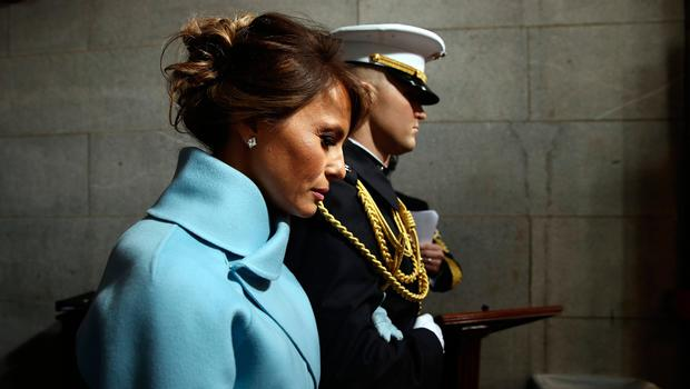 Melania Trump arrives on the West Front of the U.S. Capitol on January 20, 2017 in Washington, DC. In today's inauguration ceremony Donald J. Trump becomes the 45th president of the United States.  (Photo by Win McNamee/Getty Images)