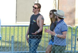 INDIO, CA - APRIL 12:  Actors Eric Balfour (L) and Danny Masterson (R) attend day 1 of the 2013 Coachella Valley Music & Arts Festival at the Empire Polo Club on April 12, 2013 in Indio, California.  (Photo by Frazer Harrison/Getty Images for Coachella)
