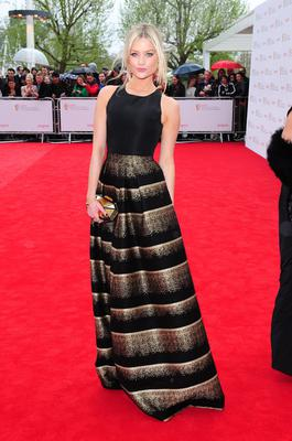 Laura Whitmore arriving for the 2013 Arqiva British Academy Television Awards at the Royal Festival Hall, London. PRESS ASSOCIATION Photo. Picture date: Sunday May 12, 2013. See PA story SHOWBIZ Bafta. Photo credit should read: Ian West/PA Wire