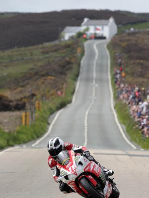 @Press Eye Ltd Northern Ireland- 3rd   June    2013 Mandatory Credit - Brian Little/ Presseye   William Dunlop  (Milwaukee Yamaha)     at Creg-Ny-Baa  during Monday's Royan London 360 Superstock Race  over the Mountain Course during  the IOM TT 2013.