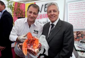 Former First Minister Peter Robinson with Derek Patterson. Pic William Cherry/Presseye