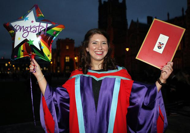 Mandatory Credit - Picture by Freddie Parkinson/Press Eye © Thursday 8th December 2016 Graduations take place at Queens University in Belfast. Patricia McCann from Belfast