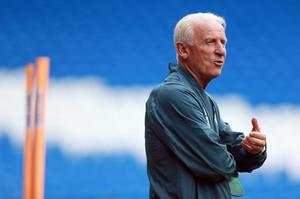 Republic of Ireland manager Giovanni Trapattoni during a training session at the Cardiff City Stadium, Cardiff. David Davies/PA Wire.