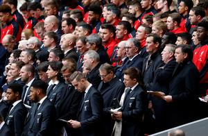 Current and former Liverpool players during the last memorial service to be held at Anfield, Liverpool, to mark 27 years to the day since the tragedy claimed 96 lives. PRESS ASSOCIATION Photo. Picture date: Friday April 15, 2016. The 96 Liverpool fans died in the crush on the Leppings Lane terraces at Sheffield Wednesday's Hillsborough stadium after going to see their team play Nottingham Forest in an FA Cup semi-final on April 15, 1989. See PA story MEMORIAL Hillsborough. Photo credit should read: Peter Byrne/PA Wire