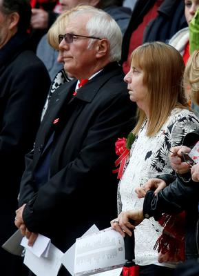 Hillsborough campaigners Margaret Aspinal and Trevor Hicks during the last memorial service to be held at Anfield, Liverpool, to mark 27 years to the day since the tragedy claimed 96 lives. PRESS ASSOCIATION Photo. Picture date: Friday April 15, 2016. The 96 Liverpool fans died in the crush on the Leppings Lane terraces at Sheffield Wednesday's Hillsborough stadium after going to see their team play Nottingham Forest in an FA Cup semi-final on April 15, 1989. See PA story MEMORIAL Hillsborough. Photo credit should read: Peter Byrne/PA Wire