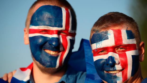 ROSTOV-ON-DON, RUSSIA - JUNE 26:  Fans of Iceland enjoy the pre match atmosphere prior to the 2018 FIFA World Cup Russia group D match between Iceland and Croatia at Rostov Arena on June 26, 2018 in Rostov-on-Don, Russia.  (Photo by Clive Brunskill/Getty Images)