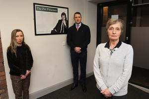 Katherine Finucane, with her brother John and mother Geraldine (Liam McBurney/PA)