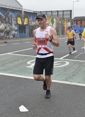 7th May 2018 37th Deep RiverRock Belfast City Marathon  Ian Young  pictured at the marathon  Mandatory Credit ©Presseye/Stephen Hamilton