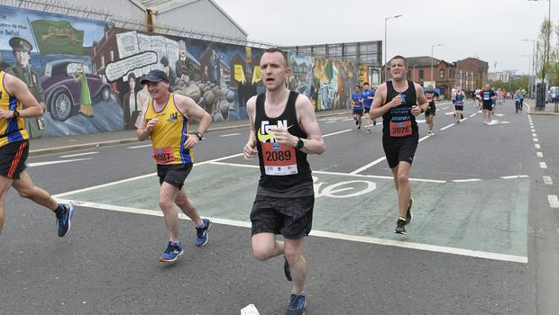 7th May 2018 37th Deep RiverRock Belfast City Marathon  Arthur Cassidy  pictured at the marathon  Mandatory Credit ©Presseye/Stephen Hamilton