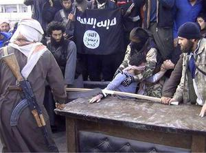 Horrific images appeared to show the radical Islamist group Isis (Islamic State of Iraq and Syria) carrying out 'punishment' in the Aleppo province. The Twitter feed 'Jihad News' claimed the alleged thief had requested the punishment according to strict religious codes