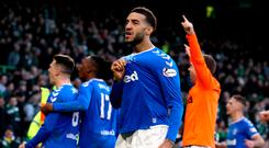 Rangers' Connor Goldson celebrates the result at the end of the Ladbrokes Scottish Premiership match at Celtic Park, Glasgow. PA Photo. Picture date: Sunday December 29, 2019. See PA story SOCCER Celtic. Photo credit should read: Andrew Milligan/PA Wire. EDITORIAL USE ONLY