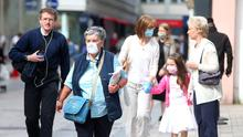 Face coverings now compulsory for Northern Ireland shoppers.  From today members of the public will have to wear face masks when they are in shops or confined places as part of efforts to suppress coronavirus. Picture by Jonathan Porter/PressEye