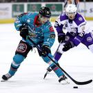 Belfast Giants centre Rickard Palmberg in action against the Glasgow Clan at the SSE Arena (William Cherry/Presseye)